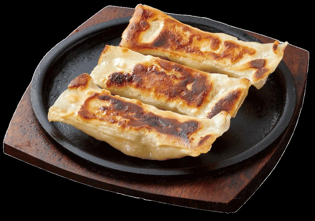鶏肉と海鮮の鉄板棒餃子
